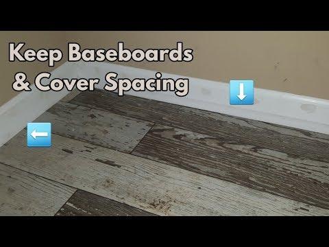 DIY: How To Cover Spacing Gaps On Laminate/Hardwood Flooring