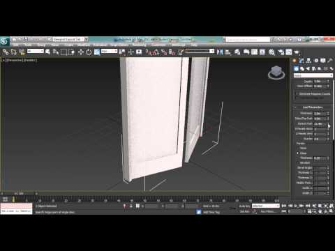 8 How to create doors & windows in 3ds max