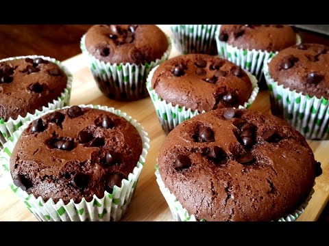 Eggless Chocolate Muffins without Condensed Milk