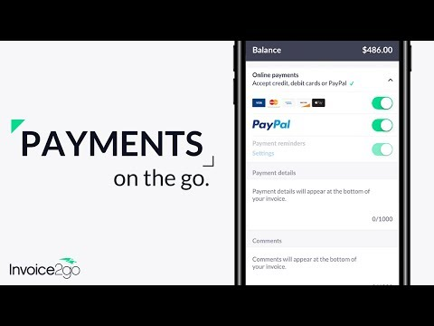 How to accept payments with Invoice2go