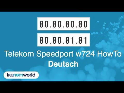 Freenom World Telekom Speedport w724 HowTo (German)