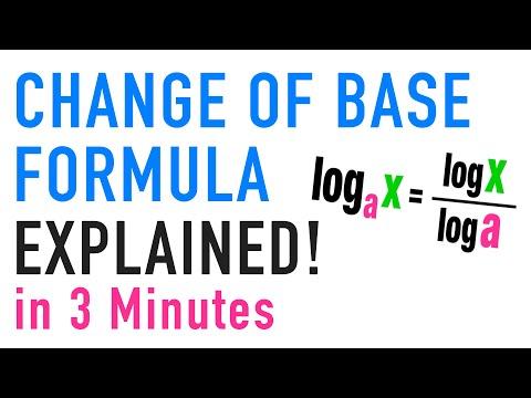 ☆ THE CHANGE OF BASE FORMULA!