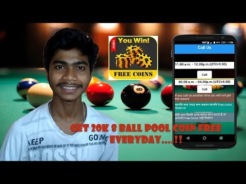Get 20K 8 Ball Pool Coin Free .. EVERYDAY .. !! | Download the Pool Ball Reward App & Call us TODAY.