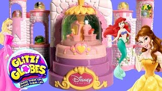 Glitzi Globes Spin 'n Sparkle Castle Playset ❤ Disney Princess Belle Ariel Sleeping Beauty