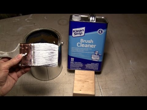 Paint Brush Cleaning / The ULTIMATE 2 Step Technique for Latex.
