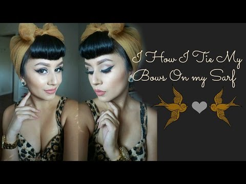 Pin Up Hair | How I tie my headscarf  ♡