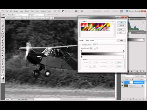 Adobe Photoshop CS5 - Tutorial Converting a colour image to black and white.