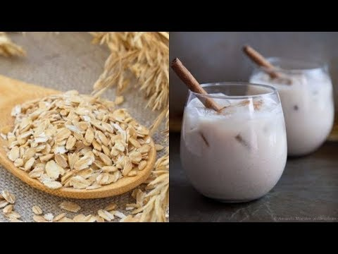 Horchata De Avena Cremosa (Horchata Is Traditional Spanish Drink Made With Oats)  English & Spanish