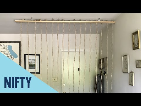 Easy Rope Room Divider