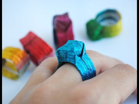 How to make Paper Ring | Ring Origami | Paper made