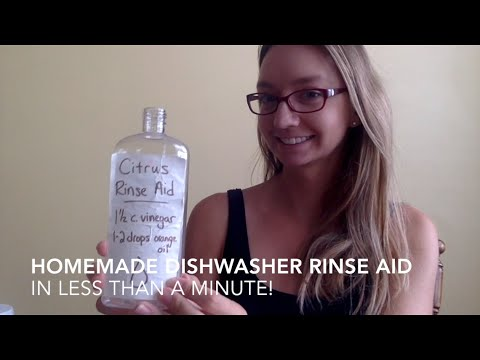 Homemade Dishwasher Rinse Aid (takes one minute!)