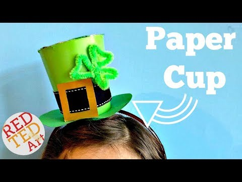 Mini Leprechaun Hat DIY - how to make a paper cup hat - Mini Top Hat DIY for St Patrick's Day
