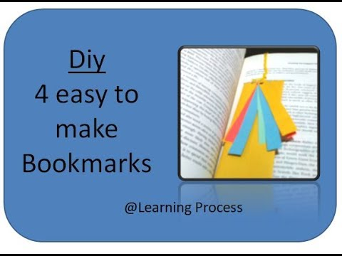 Diy: 4 Smart, Cute, Adorable and Easy bookmarks diys for your books | Learning Process