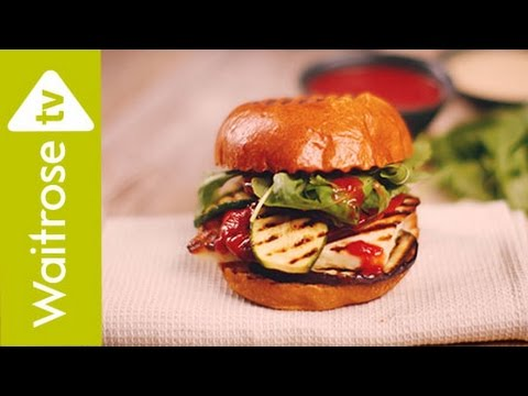 The Happy Pear's Halloumi Burger With Chilli Ketchup | Waitrose