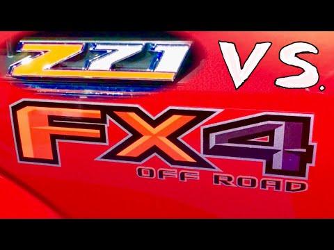 2018 Chevrolet Z71 vs Ford FX4 Truck Packages