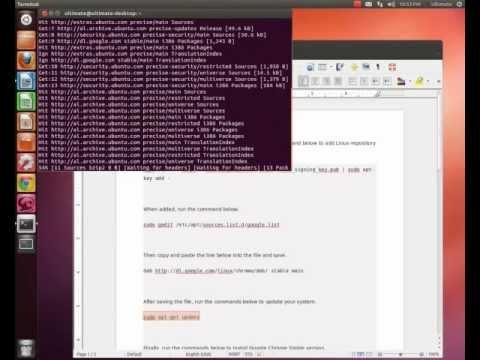 Installing Google Chrome Ubuntu 12.04