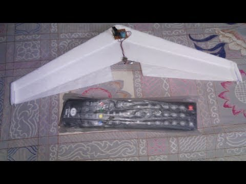 How to make a RC (controlled by tv remote) tail rotor glider.  No arduino needed