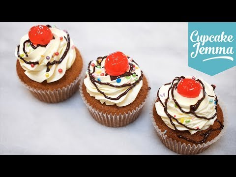 How to Make Banana Split Cupcakes | Cupcake Jemma