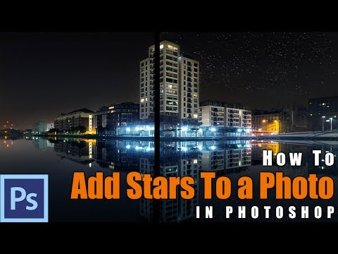 How to Add Stars in Photoshop - Example: Dublin Docks | Photoshop Tutorial (Brush Included)