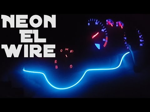 Led Flexible EL Wire Strip Neon Glow Light (Unboxing and Installation)