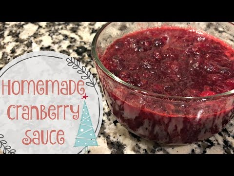 HOMEMADE CRANBERRY SAUCE :: SIMPLE & EASY :: COOK WITH ME