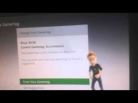 How to change your xbox 360 gamertag for free!
