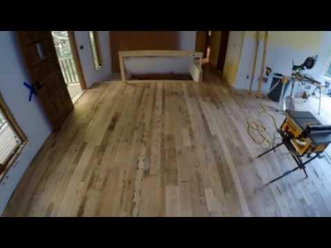 Reclaimed Wood Floor Install