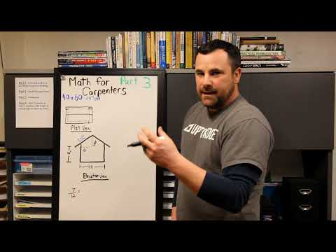 Carpenter Math : Estimating Roof, Fascia and Wall area on a Gable end Building - Pt 3