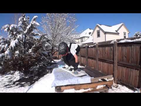 Backyard Ski Snowboard & Sled Jump