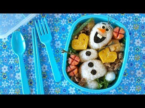 Olaf Bento Lunch Box (Disney FROZEN Do You Wanna Build A Snowman?) | OCHIKERON | Create Eat Happy :)