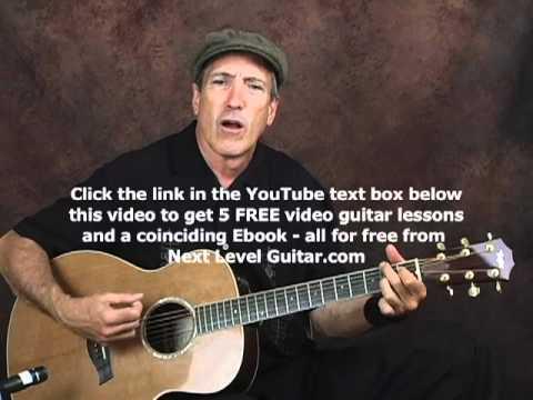Beginner EZ acoustic rockabilly rhythm guitar lesson with chords and strum patterns