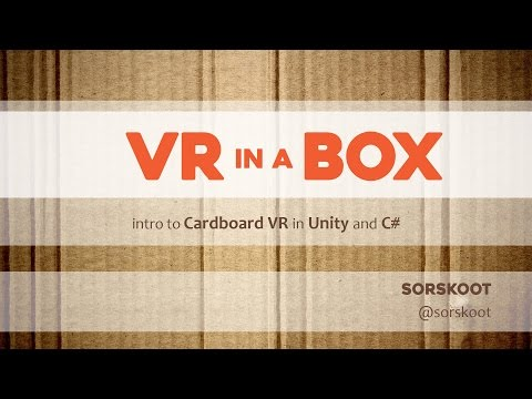 Tutorial on building a Google Cardboard app in Unity3D
