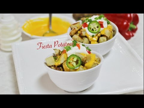 Fabulous Fiesta Potatoes Video Recipe by Bhavna - Cheesy Baked Potatoes