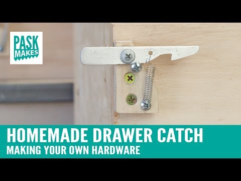 Homemade Drawer Catch - Making you own hardware