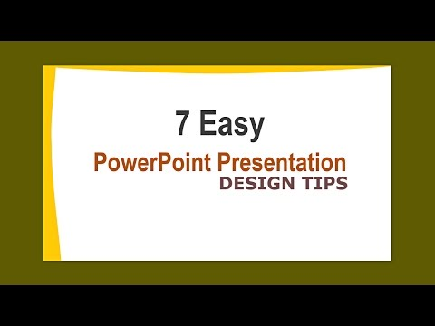 PowerPoint Presentation Design Tips | How to Design PowerPoint Presentation