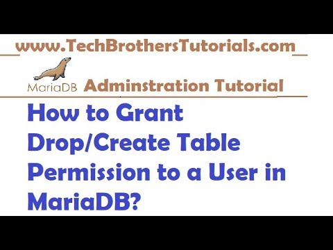 How to Grant Drop/Create Table Permission to a User in MariaDB - MariaDB Admin Tutorial