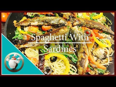 How To Make Homemade Sardines  | Spanish Sardines Pasta Recipe