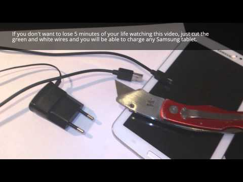How to charge your Galaxy tablet with USB port or any charger. This is the best solution.