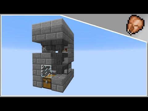 Minecraft Tutorial : 3x3 Automated Chicken Farm / Cooker (1.8)+