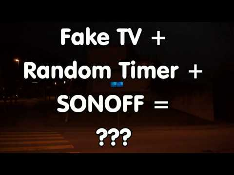 #95 Fake TV using Neopixels Random Timer and ESP8266 or SONOFF