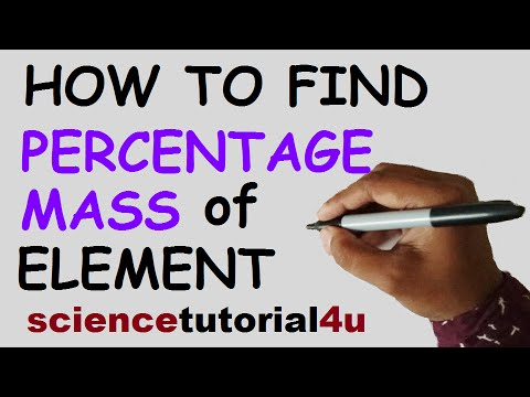 How to Calculate Percentage Mass of Element - Percent Composition
