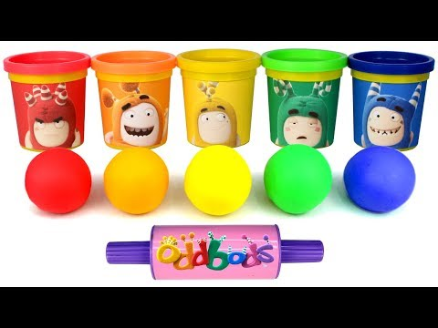 Play Doh Oddbods Can Heads Learn Colors with Fun Molds Oddbods Surprise Toys Learn Shapes for Kids