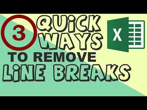 3 quick ways to remove line breaks in Excel