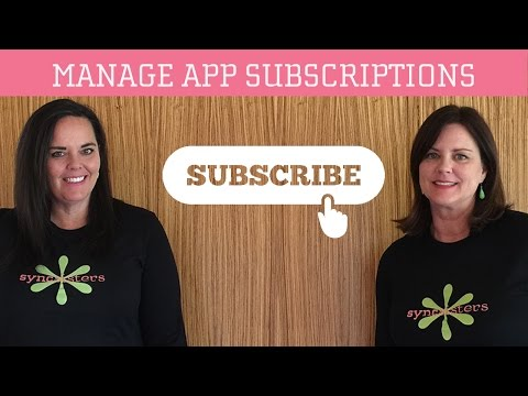 Manage App Subscriptions - iPhone / iPad