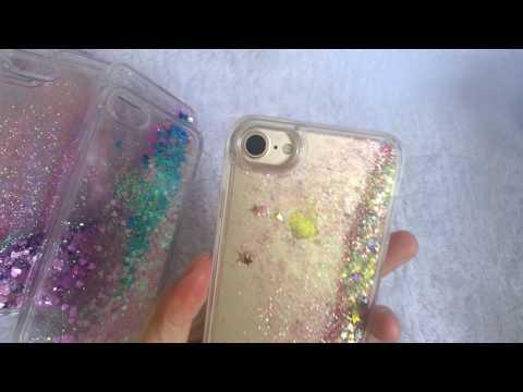 iPhone 7 6S 6 Plus Glitter Bling Star Heart Waterfall Quicksand case