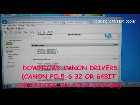 How to download Canon IR Series Printer Driver