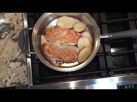 Pesto Chicken Breast waterless cookware