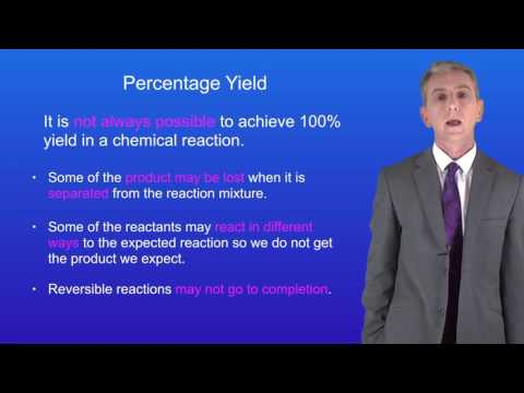 GCSE Science Chemistry (9-1 Triple) Calculating Percentage Yield 1