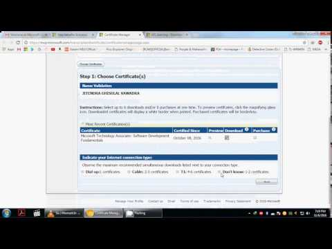 How to download MTA certificates and transcripts
