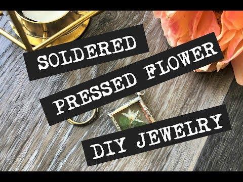 Pressed Flower Soldered Jewelry